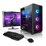 Megaport Super Méga Pack Reaper - PC Gamer Complet 6-Core AMD Ryzen 5 • Ecran LED 24' • Claviers de Jeu et Souris • GeForce GTX1660 6Go • 16Go • 240Go SSD • 1To • Windows 10 Home