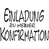 RAYHER 28393000, H.  Stempel Einladung zur Konfirmation, 5 x 7 cm, Artikel 11701