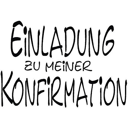 RAYHER 28393000, H.- Stempel Einladung zur Konfirmation, 5 x 7 cm, Artikel 11701