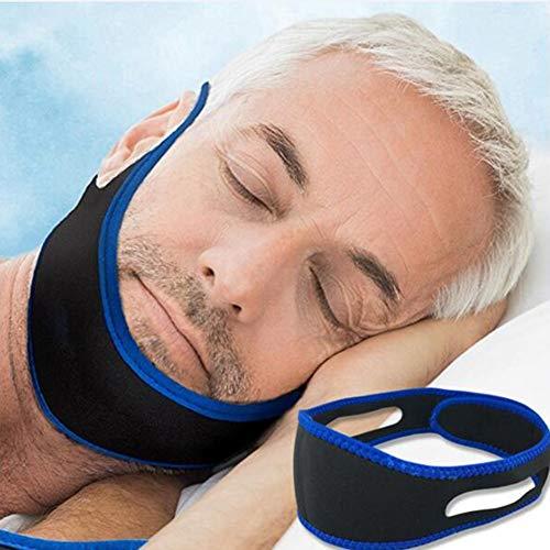 Dilatador Nasal,Correas for la barbilla antirronquidos, dispositivos ajustables for hombres, mujeres, ronquidos, respiradores bucales for dormir, modo alargado, azul, 2 piezas