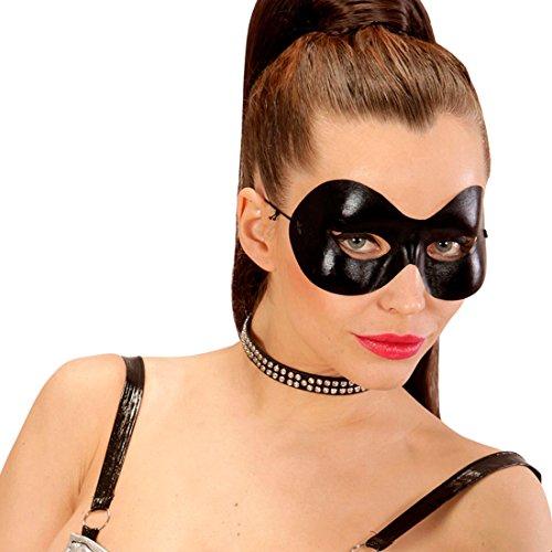 Amakando Domino Catwoman Maske Zorro Faschingsmaske Venezianische Maskerade Fetish Maske SM Superheld Karnevalsmaske Schwarze Augenmaske