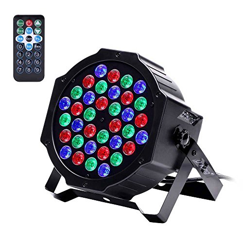 U`King LED Stage Lights, 36 LEDs RGB Party Lights with IR Remote and DMX Controller for DJ Club Party Bar Disco Neon Party Stage Lighting