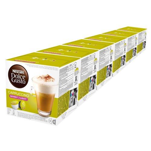 Nescafé Dolce Gusto Cappuccino light, weniger Kalorien, Kaffee, Kaffeekapsel, 6er Pack, 6 x 16 Kapseln (48 Portionen)