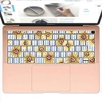 igsticker MacBook Air 13inch 2018 専用 キーボード用スキンシール キートップ ステッカー A1932 Apple マックブック エア ノートパソコン アクセサリー 保護 011035 ひまわり 花 ボーダー