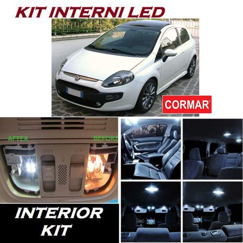 KIT INTERNI LED GRANDE PUNTO e PUNTO EVO FULL WHITE 6000K