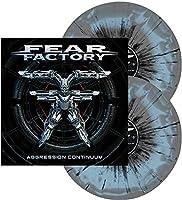 Aggression Continuum (Grey & Light Blue Swirl w/ Black Splatter)