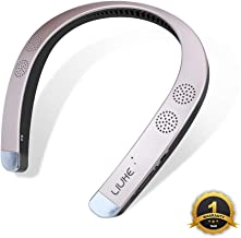 Neckband Wearable Speaker,LIUHE Wireless Bluetooth Speaker,Portable Personal Sport Speaker,Listen to Music, Watch TV with Theater Quality 3D Sound, Hands-Free Phone Calls (Rose Gold)