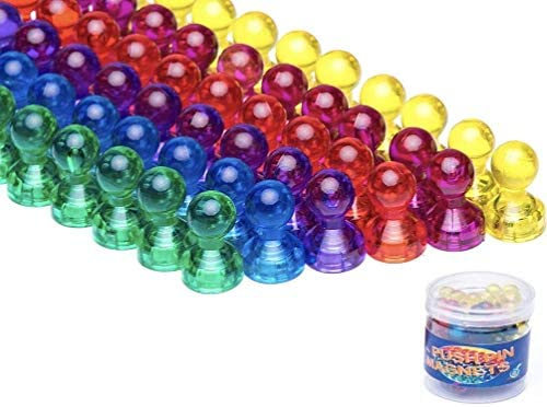 Push Pin Magnets Refrigertor Magnets 66 Pack 6 Assorted Color Strong Magnets Use at Home School product image