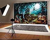 YongFoto 3x2m Vinilo Fondo de Fotografia Halloween Night Mystery Graveyard Telón de Fondo Fiesta Niños Boby Boda Adulto Retrato Personal Estudio Fotográfico Accesorios
