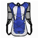 VBIGER サイクリングバッグ バックパック 軽量 自転車バッグ ランニング ウォーキング ジョギング ハイキングリュック アウトドア (ブルー)