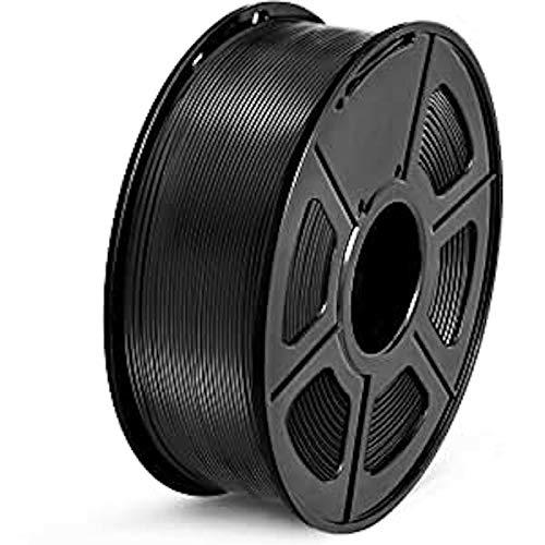 SUNLU 1.75mm PETG Black 3D Printer Filament, Dimensional Accuracy +/- 0.02mm, 2.2 LBS (1KG) Spool,1.75 mm PLA 3D Filament for Most 3D Printer & 3D Printing Pen, PETG Black