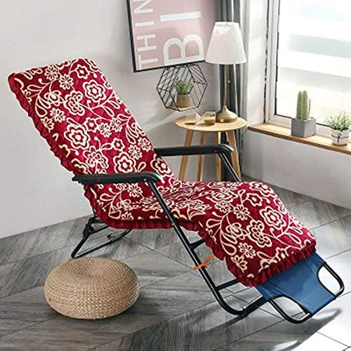 Indoor Outdoor Lounge Stuhl Kissen, Lounge Chaise Kissen Patio Recliner Stuhl Kissen für Garten Sofa Bank (nur Kissen) Rot A 52150cm (2059inch)