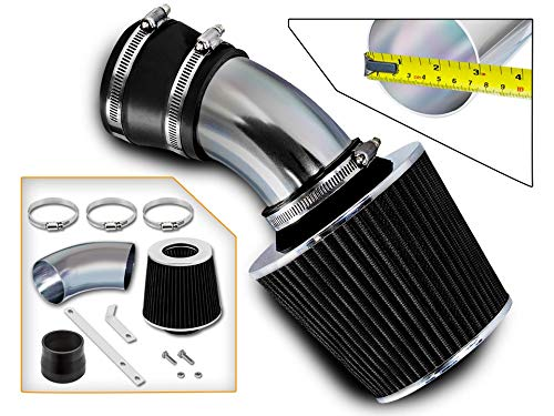 Rtunes Racing Short Ram Air Intake Kit + Filter Combo BLACK Compatible For 98-05 BMW E46 3-Series …