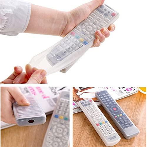 Conjunto de control remoto 1 UNID TV Silicone TV Caja de control remoto Funda transparente Aire acondicionado Polvo Proteger Bolsa de almacenamiento Anti-polvo Impermeable Transparente 5Z Impermeable