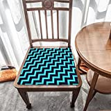 Cojín de asiento para silla, espuma de memoria, rayas azules brillantes, cojines de asiento para oficina, hogar o coche sentado