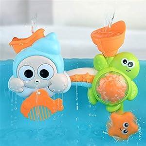 SHDT Juguetes De Baño para Bebés, Juguetes De Agua Cascada Estación De Agua Bañera Ventosas Juguete, Fuente Ducha De Agua Baño De Juguete para Niños Regalo De Niños Pequeños