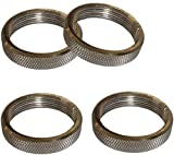 CattleBie 4 Pack Metal Screw Ring E27 Socket Replacement, for lamp Socket Rings and lamp Screens or Glass Elements,Bronze