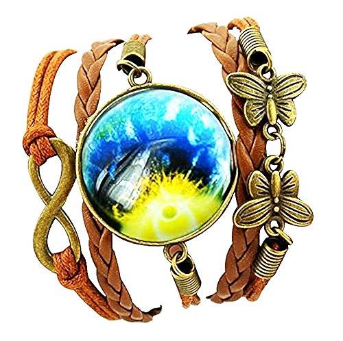 Vrouwelijke armband - vrouw - melkweg - armband - sterren - universum - zonne-energie - melkweg - planeten - universum - sterren - veelkleurig - cabochon - origineel geschenkidee galaxy