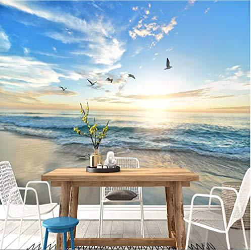 Murale Carta da parati murale personalizzata Carta da parati 3D con paesaggi al mare Foto di tramonto Foto per pareti 3D Soggiorno Sala da pranzo Sfondo Decorazione della parete Tela Murale 200x140cm