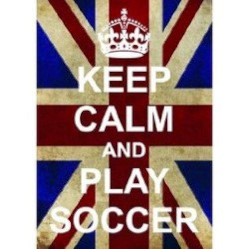 Keep Calm And Play fútbol grande en caja lienzo mantener la calma ...