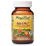 1. MegaFood, Baby & Me 2, Prenatal and Postnatal Vitamin with Active Form of Folic Acid, Iron, Choline, Non-GMO, 60 Tablets