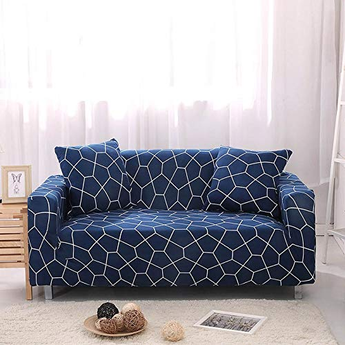 ASCV Funda de sofá elástica Fundas de sofá de algodón Fundas Ajustadas para sofá con Todo Incluido Fundas de sofá para Sala de Estar Mascotas Funda de sofá A6 2 plazas