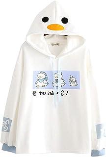 Kawaii Long Sleeve Sweatshirts Hoody Womens Sea Animal Crop Top Pullover Sweatshirt