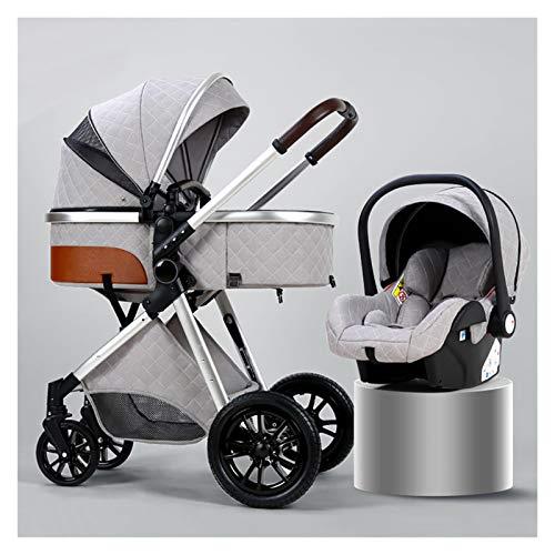 XYSQ Kinderwagen, Baby-Reisesystem 3 In 1, Kinderwagen-Reisesysteme, Tragbarer Buggy, Kinderwagen Für 0-36 Monate...