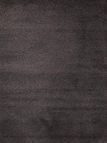 havatex Velours Teppich Kontor - Farbe wählbar | schadstoffgeprüft pflegeleicht | robust strapazierfähig Wohnzimmer Kinderzimmer Schlafzimmer, Farbe:Anthrazit, Größe:60 x 120 cm