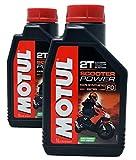 Olio Mix Motul Scooter Power 2T 100% esteri sintetici, confezione da 2 litri