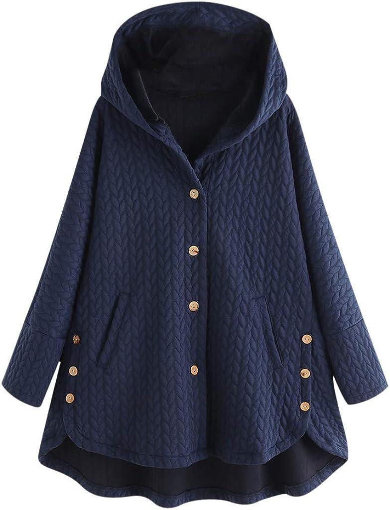 RYGHEWE Women's Solid Oversized Popular standard Winter Warm Coat Detroit Mall Cardigan Hoodie