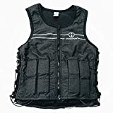 Hyperwear Hyper Vest FIT Adjustable Weighted Vest Women (8 lbs S) 8 lbs Running Walking Workouts Metallic Black Reflective Thin 1/2 lb Weights Designed Comfortable Female Fit (8 lbs Small)