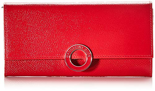 Mandarina Duck Damen Deluxe Geldbörse, Rot (Flame Scarlet), 2x10x19 Centimeters