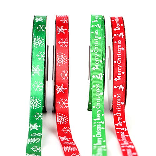 5m gold Merry Christmas Webband Ribbon Ripsband Schleifenband Bänder Dekoband