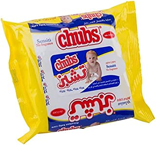 Chubs Baby Wipes Flow Pack 20`S Sensitive, Piece of 20
