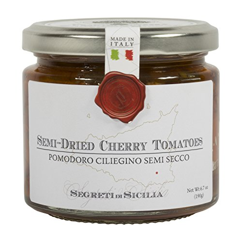 Frantoi Cutrera - Pomodorino Semi Secco - Semi-Dried Cherry Tomatoes in Extra Virgin Olive Oil, Product of Italy, 6.7oz