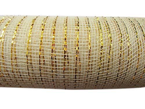 YYCRAFT - Rollo de malla de poliéster con laminado metálico para decoración y manualidades (9,1m)