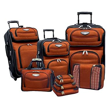 Travelers Choice Amsterdam 8pc Set, Orange