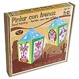 Arenart | 1 Lámpara de Farol Mascotas 12x12x22cm | para Pintar con Arenas de Colores | Manualidades para Niños | Dibujo Infantil | +6 años