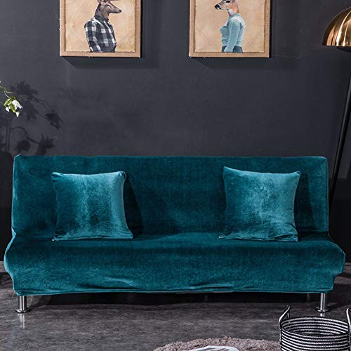Monba Colore Solido copridivano Fox Velluto Fodera Protezione Completa Pieghevole Divano Copertura Senza braccioli, Velluto, Royal Blue, L:160-195cm