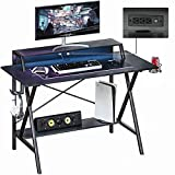 Sedeta Gaming Desk with USB Port and Power Outlet, 47' Gaming Table, Computer Desk, Gaming...