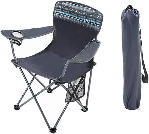 XBZDY Grande Chaise De Camping, Chaise Pliante en Plein Air Chaise De Loisirs Pliante portable Chaise De Plage Chaise De Pêche Esquisse, Pliant Peut être Mis dans Le Sac à Dos