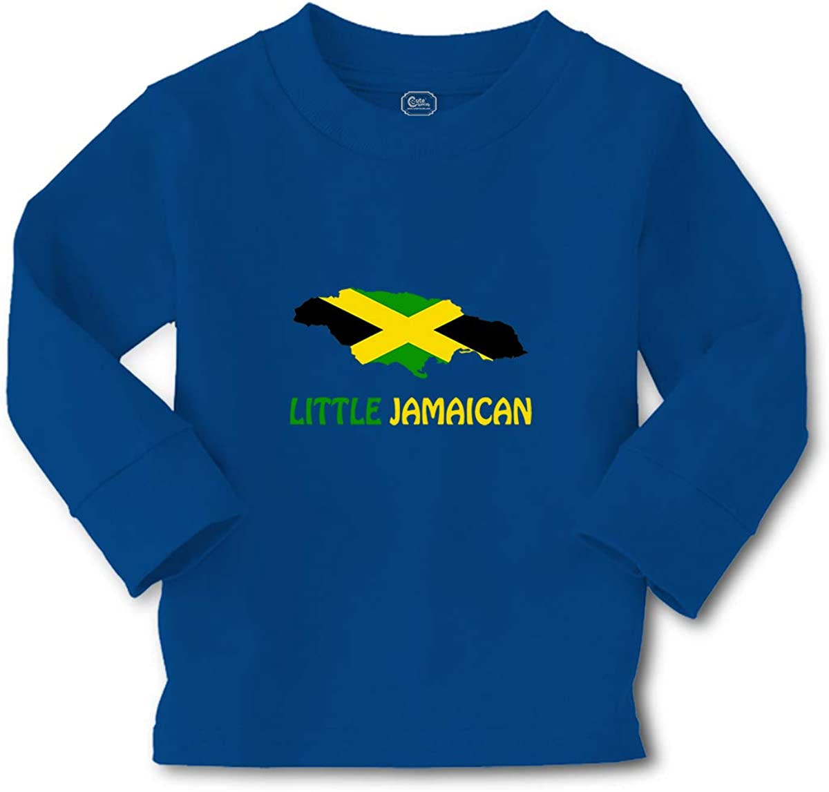 Cute Rascals Kids Long Sleeve T Shirt Little Jamaican Countries Cotton Boy & Girl Clothes