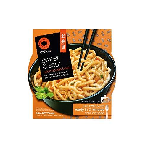 Obento Sweet & Sour Udon Bowl 6 x 240g (2 Minuten in die Mikrowelle und genießen!)