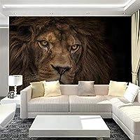 3D写真の壁紙野生動物ライオンポスター壁壁画ホテルの寝室のリビングルームの装飾の壁紙 140cmx100cm