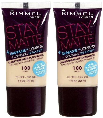 Rimmel London Stay Matte Clarifying Matte Foundation, Ivory