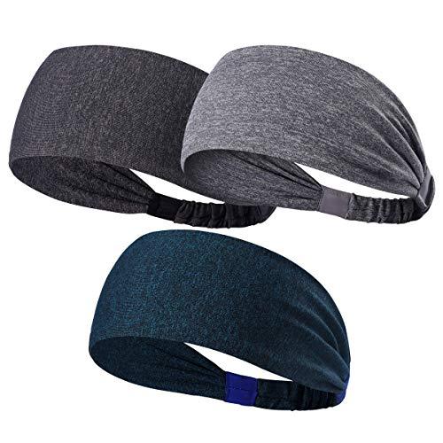 HANERDUN Sport Stirnband Damen Schweißbänder Kopf Stirn Haarband Kopfband für Laufen Fahrrad Joggen Tennis Yoga Fitniss