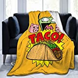 Invader Zim Gir's Taco Ultra-Soft Throws Blanket Air Conditioning Blanket for All Season Bedding Couch Plush House Warming Decor