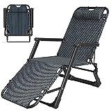 Hhh Outdoor Liegestuhl, Gartenstuhl Klappbar Relaxstuhl Verstellbar Sonnenliege, Leicht Comfort Gartenliege Zusammenklappbar Mit Kissen Und Rückenlehne Verstellbar, 200 Kg Belastbar