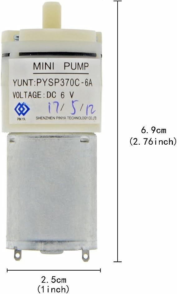 XILOSIN Silver Metal Mini Air Pump Motor with 4mm Diameter shaft and 2 Terminal DC 6V Aquarium Oxygen Circulate